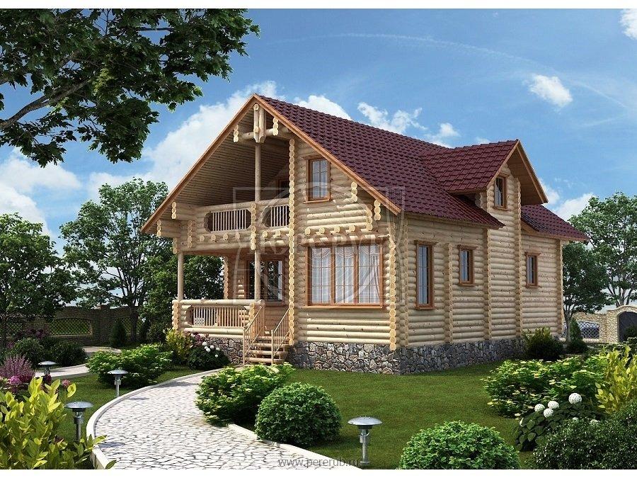 Проекты загородных домов из бревна